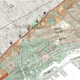 Map of Active Faults in Urban Area( Kobe )
