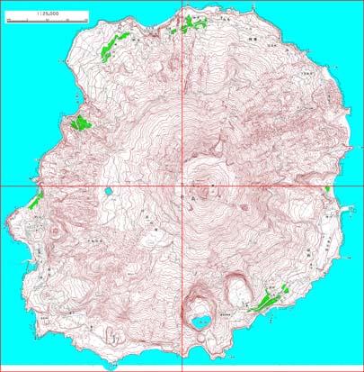 1:25,000 topographic map