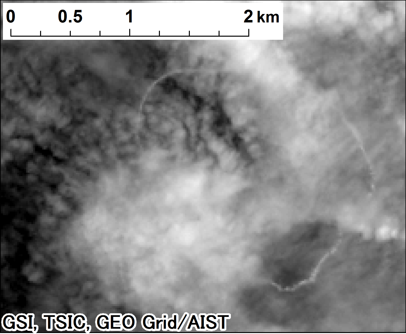 Landsat 8, panchromatic on 2015-05-20