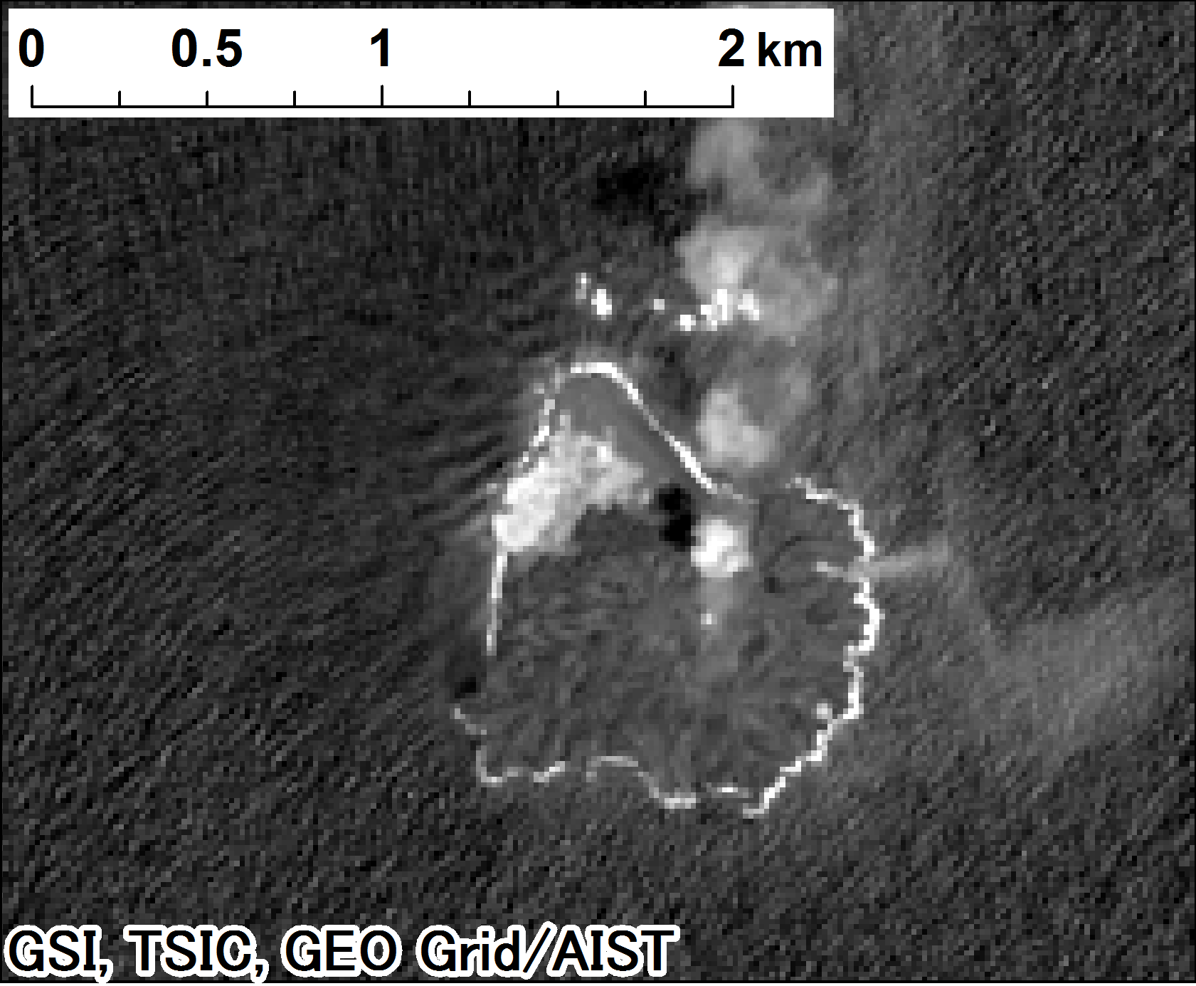 Landsat 8, panchromatic on 2014-03-30