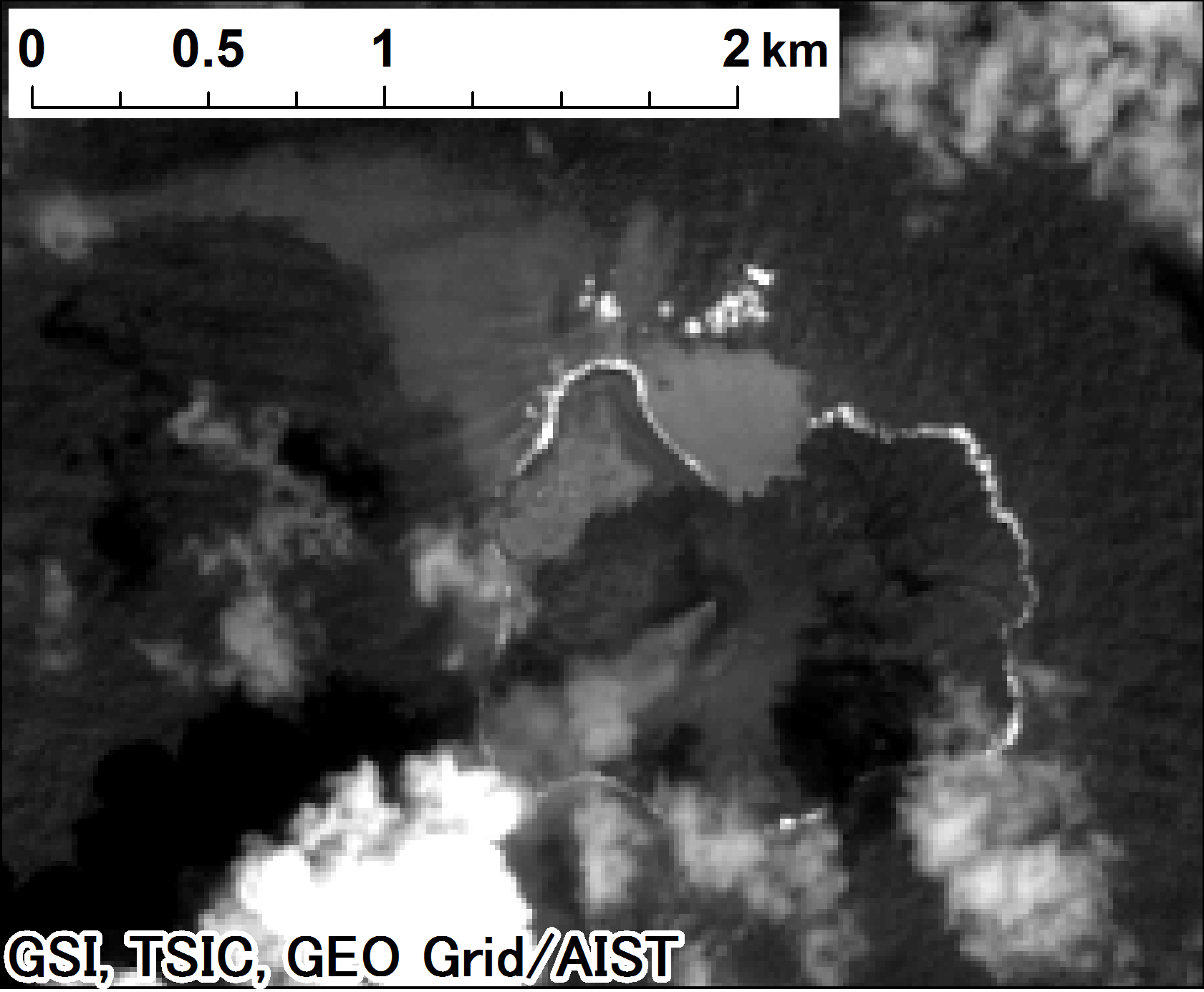 Landsat 8, panchromatic on 2014-09-06