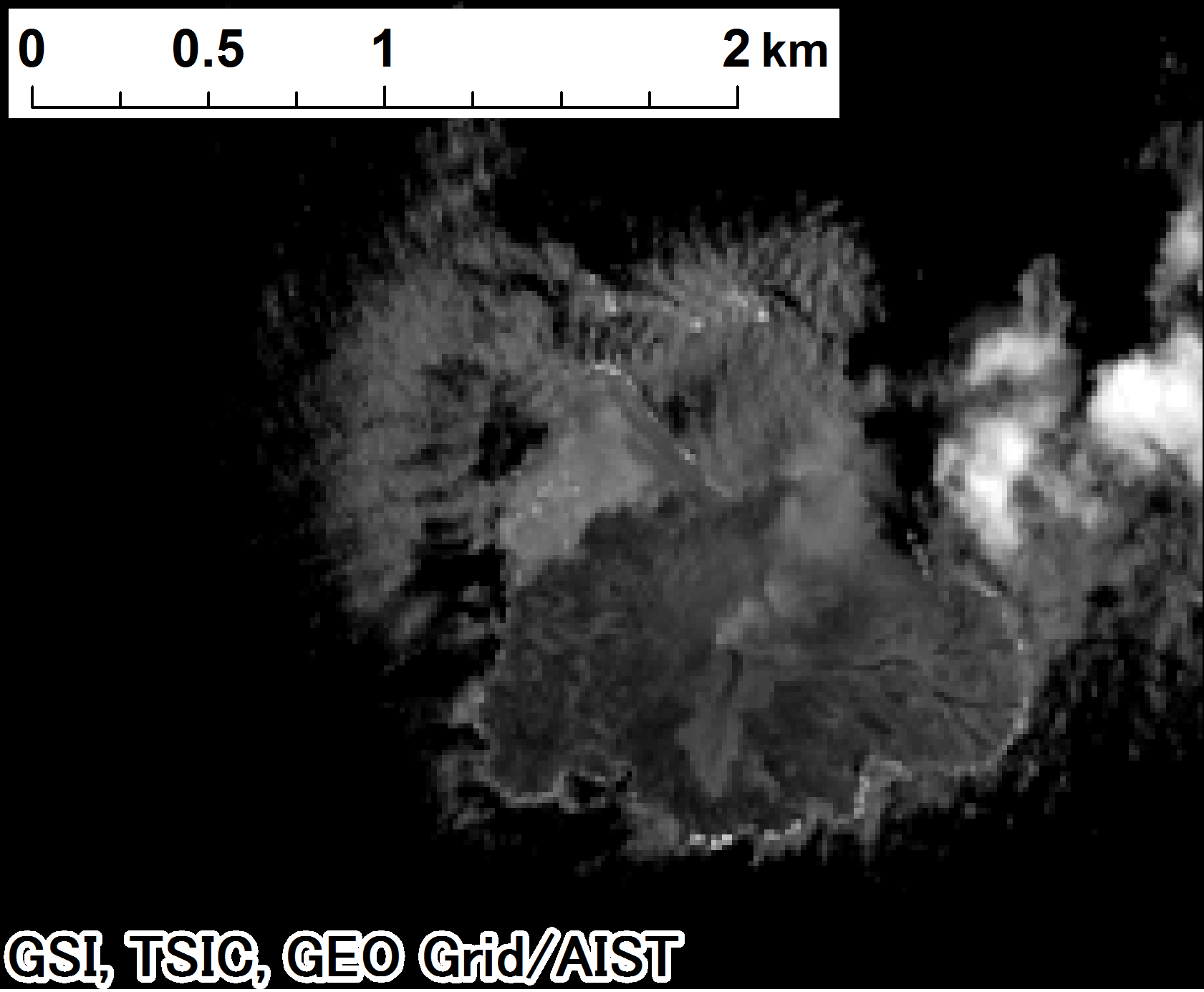 Landsat 8, panchromatic on 2014-07-04
