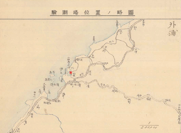 Brief map of Sotoura Tide Station