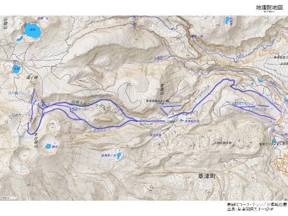草津白根山概略位置図の画像