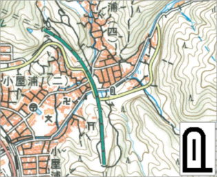 2万5千分1地形図における表示イメージ